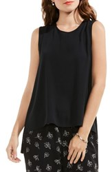 Vince Camuto Women's Back Tie Sleeveless Blouse Rich Black
