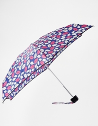 Lulu Guinness Tiny Pop Art Lips Blue Umbrella
