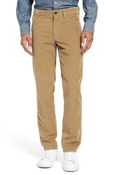 Nordstrom Men's Big And Tall Men's Shop Five Pocket Straight Leg Corduroy Pants Tan Kelp