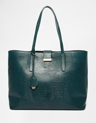 Whistles Leather Tote Back In Forest Green Lizard Forestgreenlizard