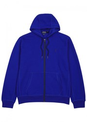 Polo Ralph Lauren Blue Hooded Cotton Sweatshirt Royal Blue