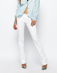 Replay Dorthy Mid Rise 70'S Inspired Baby Flare Jeans White