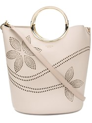 Tosca Blu Perforated Bucket Tote Nude And Neutrals
