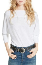 Free People Women's Valencia Off The Shoulder Pullover White