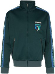 Missoni Stripe Trimmed Track Top Green