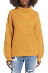 Lovers Friends Alexa Turtleneck Sweater Yellow