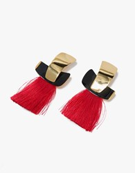 Lizzie Fortunato Totem Tassel Earrings Gold Cherry