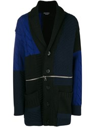 Alexander Mcqueen Chunky Knit Buttoned Coat Black