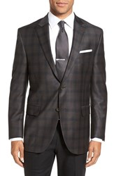 Peter Millar Men's Big And Tall 'Flynn' Classic Fit Plaid Wool Sport Coat Brown