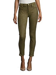 7 For All Mankind Gwenevere Snakeskin Ankle Jeans Olive