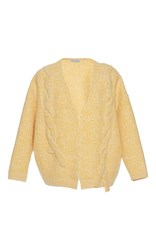 Vika Gazinskaya Yellow Cable Knit Cardigan
