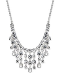 Charter Club Silver Tone Crystal Waterfall Statement Necklace Only At Macy's