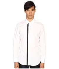 Dsquared Relax Dan Zip Shirt White Men's Clothing