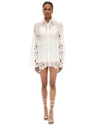 Alice Mccall Broderie Anglaise Mini Dress White