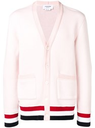 Thom Browne Oversized Chunky Loopback Cardigan Pink