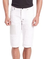 Prps Patchwork Cotton Shorts White