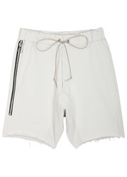 Mr. Completely Off White Cotton Shorts Cream