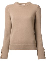 Michael Kors Crew Neck Jumper Brown