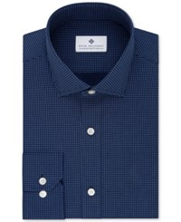 Ryan Seacrest Distinction Men's Slim Fit Non Iron Blue Print Dress Shirt Only At Macy's