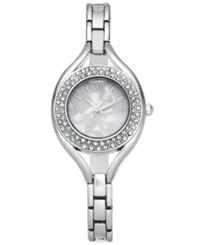 Charter Club Women's Pave Bracelet Watch 30Mm Created For Macy's Silver