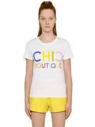 Boutique Moschino Chic Cotton Jersey T Shirt