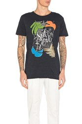 Scotch And Soda Chest Artwork Tee Navy