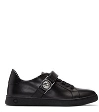 Versus Black Lion Medallion Sneakers