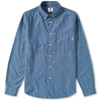 Paul Smith Button Down Chambray Shirt Blue