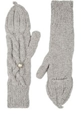 Eugenia Kim Women's Joelle Baby Alpaca Convertible Mittens Light Grey