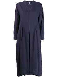 Aspesi Long Sleeve Flared Dress Blue