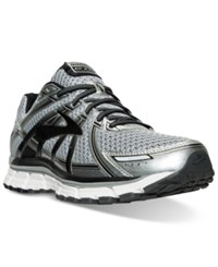 Brooks Men's Adrenaline Gts 17 Wide Running Sneakers From Finish Line Silver Black Anthracite