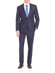 Polo Ralph Lauren Purple Label Classic Fit Worsted Glenplaid Suit Navy