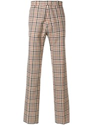 N 21 No21 Plaid Trousers Nude And Neutrals
