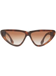 Burberry Triangular Frame Sunglasses Brown