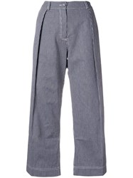 Peter Jensen Regatta Stripe Pleated Trousers Blue