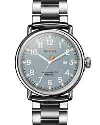 Shinola 47Mm Runwell Bracelet Watch Slate Blue