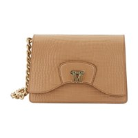 Max Mara Logo Clutch Bag Camel