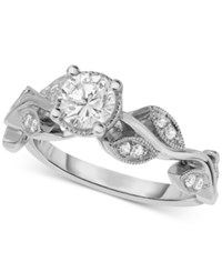 Macy's Diamond Vine Inspired Engagement Ring 5 8 Ct. T.W. In 14K White Gold