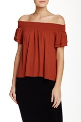 Lily White Off Shoulder Blouse Metallic