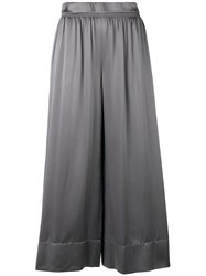 Theory Cropped Palazzo Trousers Grey