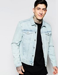 Minimum Bleached Denim Jacket Blue