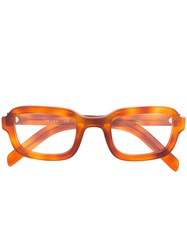 Prada Eyewear Rectangular Frame Glasses Orange