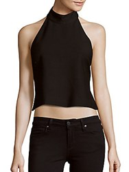 Finders Keepers Better Days Cropped Top Black