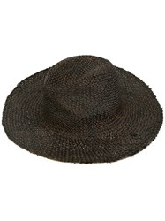 Isabel Benenato Beach Hat Brown