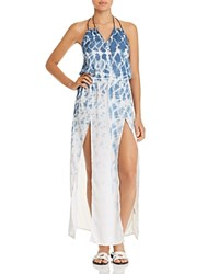 Surf Gypsy Tie Dye Maxi Dress Swim Cover Up Denim Marble