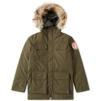 A Bathing Ape Fur Hooded Jacket Green