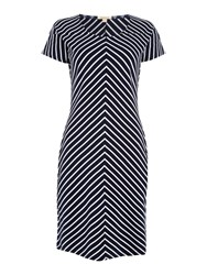 Barbour Exclusive Whitmore Striped Cap Sleeve Dress White And Blue White And Blue