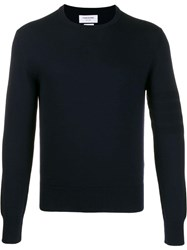 Thom Browne Crew Neck Knitted Jumper Blue