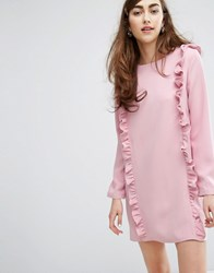 Sister Jane Long Sleeve Dress With Ruffles Pink