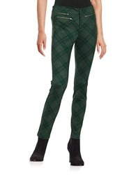 Design Lab Lord And Taylor Plaid Knit Pants Green Red